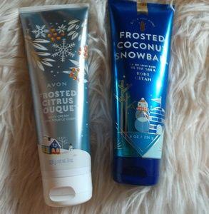 Avon/Bath & Body works body creams